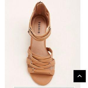 Torrid wedge strappy sandals 12.5W
